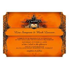 halloween wedding invitations afoodaffair me