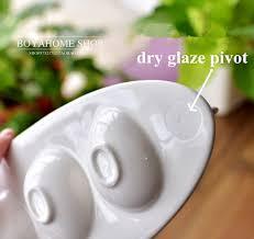 ceramic egg plate creative white ceramic egg plate boat shaped porcelain egg