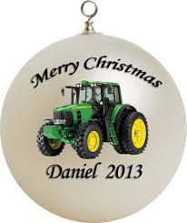 personalized deere ornament