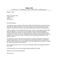 advocate cover letters