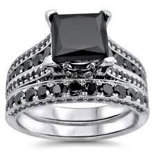 princess cut black engagement rings noori 14k white gold 3 8ct tdw certified princess cut black