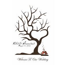 Wedding Tree Aliexpress Com Buy 40x60cm Customize Wedding Fingerprint Tree