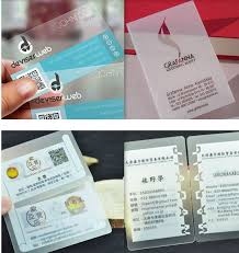 Plastic Business Card Printer Clear Plastic Printing Promotion Shop For Promotional Clear