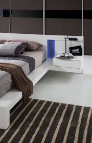Contemporary White Lacquer Bedroom Furniture Modern White Lacquer Bed