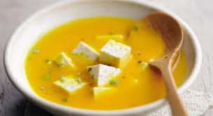 cuisiner le potiron soupe de potiron à la feta recette gourmand