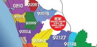 Map Of Carlsbad Ca Carlsbad Zip Code Map Map Of San Diego You Can See A Map Of Many