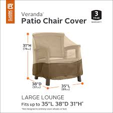 Patio Furniture Covers Reviews - classic accessories veranda patio lounge chair club chair cover