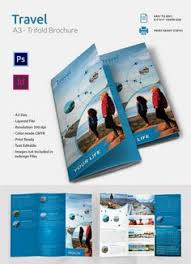 travel a3 trifold brochure template graphic design publishing