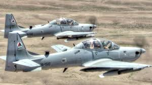 at 6 light attack aircraft a 29 super tucano attack aircraft in action live fire training