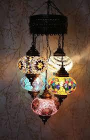 Turkish Chandelier Turkish Mosaic 5 Globe Chandelier Calm Snazzy Bazaar