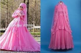 muslim wedding dresses aliexpress buy pink sleeve islam muslim wedding dresses