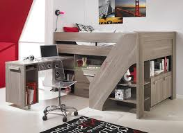 loft bed with desk and storage flower motif bedding bunk beds dressing table twin over