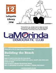 Learn Bench Learn About Building The Bench Lamorinda Democratic Club