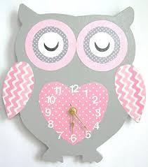 amazon com nursery wall clock nursery owl clock hanging owl