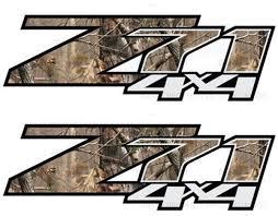 product 2 chevy silverado z71 4x4 decals realtree ap camo