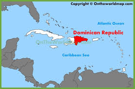 where is the republic on the world map republic location on the caribbean map