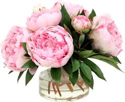 faux peonies large peonies and medium with buds in glass vase reviews joss