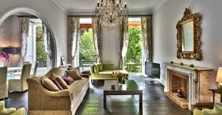 glorious open plan french country living room design concept using