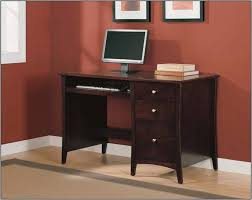Small Desk With Drawer Free Ship Furnishings Brown Wood Home Office Desk Small Desk