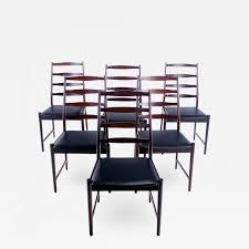 torbjørn afdahl set of six danish modern rosewood dining chairs
