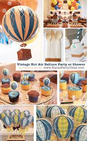 baby boy birthday themes kara s party ideas vintage hot air balloon 1st birthday party