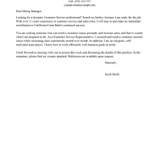 cover letter example for customer service gallery letter samples