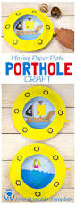 moving paper plate porthole craft kids craft room