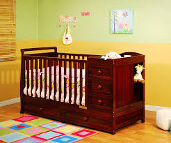 cherry wood crib walmart in1 fixedside crib and changing table
