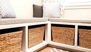 breakfast nook table and bench set with storage charming on home