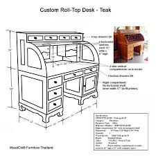 Roll Top Desk Dimensions Rosewood Furniture By Woodciti Furniture Thailand