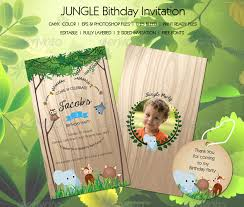 Jungle Birthday Card Jungle Birthday Invitation By Staticeblue Graphicriver