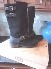 ugg womens finney boots black ugg australia buckle suede ankle boots for ebay