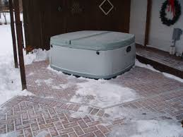 Patio Paver Installation Instructions by How To Install A Spa Or Tub On Pavers With Cedar Enclosure