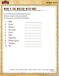 science matter worksheets worksheets