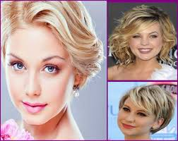 short haircuts for round faces curly hair side swept short haircut for wavy hair round face hairstyles