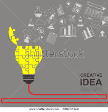 ideas concepts innovation creative solutions graphic stock vector