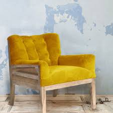 French Yellow Chair Vintage Restored French Boudoir Chair By Ghost Furniture