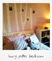 harry potter girl s bedroom combination of etsy for wall decals combination of etsy for wall decals and pottery barn which has
