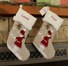 Pottery Barn Kids Stockings Ice Skater Christmas Stocking With Monogram Pottery Barn