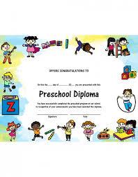 preschool diploma preschool diploma pack of 5 graduationsource