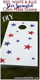 Red White Flag With Blue Star How To Make Red White U0026 Blue Game Boards Diy