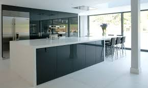 Acrylic Kitchen Cabinets Kitchen Has High Gloss Acrylic Cabinets And Wired Gloss Foil Cabinets
