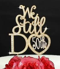 rhinestone cake toppers gold 50th wedding anniversary rhinestone cake topper party