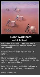 Intelligent Memes - don t work hard work intelligent client hello so i ordered 1000