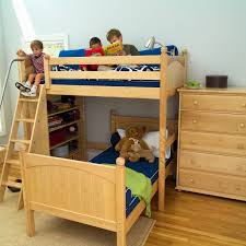 Top Kids Twin Over Full Bunk Beds  L Shaped Beds Maxtrix - Kids l shaped bunk beds
