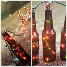 diy bottle table runner stuff colorful string lights into
