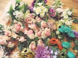 plastic flowers vintage grey vintage plastic flowers
