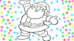 coloring santa claus christmas coloring book pages videos kids