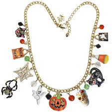 trick or treat halloween charm adjustable necklace halloween