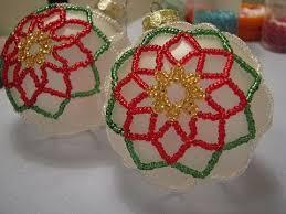 poinsettia beaded ornament part 1 of 2 beaded christmas